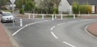 Aménagements du carrefour entre la rue du Clos Chauvin et la rue de l'Arche - Cheminement piétons dans le bourg