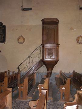 Chair de l'église de Juigné