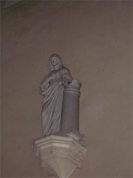 Statue de Sainte Barbe, de l'église de Juigné