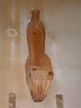 Statue du Sacré Cœur, de l'église de Juigné