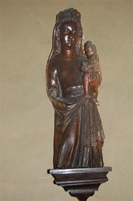 Vierge à l'enfant de l'église de Juigné