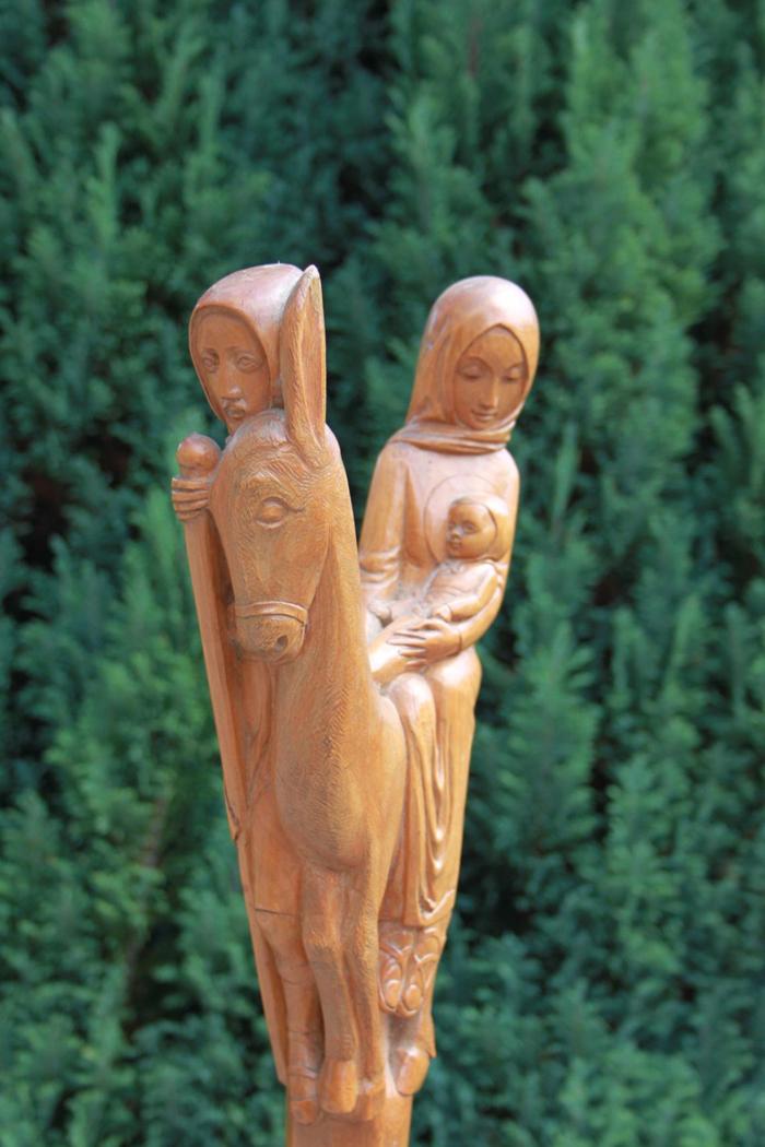 Bâton de pèlerin, Fuite en Égypte